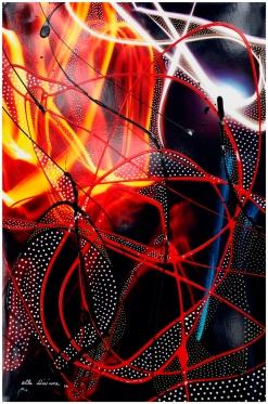 "8""x12"", pen, enamel, acrylic on c-print, 2014 (14""x18"" on frame) US$170 + shipping"