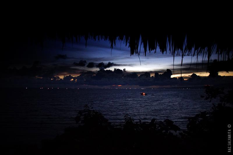 Ocean sparkles on the horizon...